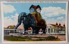 Elephant Hotel, Atlantic City, NJ, Vintage Postcard