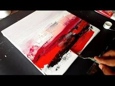 Abstract Painting / Abstract Landscape in Acrylics / Satisfying Demo / Project 365 days / Day #017 - YouTube