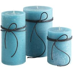 Turquoise Unscented Pillars - for the lantern