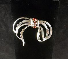 NETTIE ROSENSTEIN Sterling Silver Bow Brooch by KatsCache on Etsy, $324.95