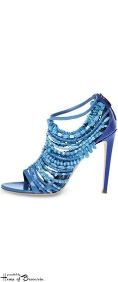 ~Donna Karen Turquoise Sandal | House of Beccaria#