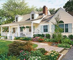The expansive front porch offers a spot for resting and serves as a connection between the house and landscape:http://www.bhg.com/home-improvement/porch/porch/before-and-after-porch-makeovers/?socsrc=bhgpin041514awelcomefrontporch&page=7