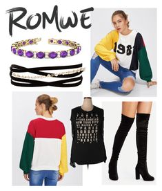 """Romwe"" by icequeen23 ❤ liked on Polyvore featuring Kenneth Jay Lane, Abbey Dawn and Allurez"