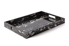 Noir Marble Acrylic Large Tray at Carla Carstens, $225                                                                                                                         With no two trays exactly alike, this designer accessory is sure to dress up any surface in the home with minimalism at the forefront.