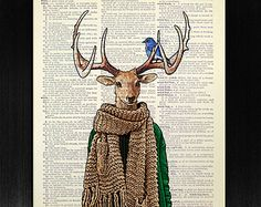 Check out our stag art selection for the very best in unique or custom, handmade pieces from our shops. Teen Room Decor, Teen Bedroom, Blue Bird Art, Deer Print, Dictionary Art, Deer Antlers, Free Prints, Cool Gifts, Original Artwork