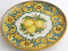 Inspirational suggestions that we adore! Blue Pottery, Pottery Bowls, Trendy Home Decor, Italian Pottery, Homewares Online, Hand Painted Ceramics, Ceramic Painting, Ceramic Plates, Personalized Housewarming Gifts