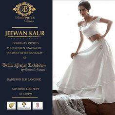 Fashion show today can't wait to see you all at Radisson blue bangkok 3.30 pm 4th floor. #jeewankaurofficial #runway #fashionshow #catwalk #rampwalk #fashionshow2017 #indianwear #bridalwear #fusionwear