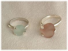 Sea Glass Jewelry Sterling Rare Pink Sea Glass by SignetureLine