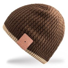 Women's Cycling Caps - Mydeal Washable Bluetooth Beanie Hat Music Cap with Wireless Stereo Over Ear Headphone Headset Earphone Speaker Microphone Hands Free for Iphone Ipad Samsung Android Cell PhonesChristmas Gift  Brown >>> You can find more details by visiting the image link.
