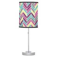 Shopping Retro Chevron Yellow Color Styles Desk Lamp in each seller