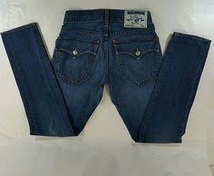 True Religion Slim Skinny Fit Women's Jeans Sz 28 Inseam 41 Made USA