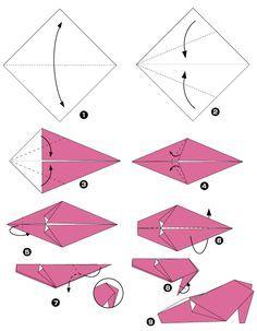 Origami de zapatos