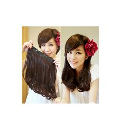 Black Brown Pear Hairstyle 5Clips in on Hair Extension 1 Weft Wig Heat Resistant U Pick 40cm 15.7inch  120g