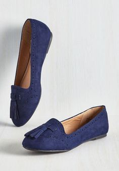 ef58360954f Soaring Tutorial Flat in Cobalt Modcloth Shoes