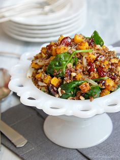 No changes needed for this recipe...already anti-angio/anti-cancer.  Warm Roasted Butternut Squash and Quinoa Salad. - @MalayaMai