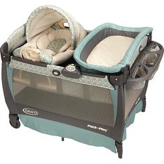 You want to keep your newborn comfy and relaxed. Graco's Pack n' Play(R) Play Yard with Cuddle Cove(TM) Removable Seat features a soft, cozy little nest to help you do just that. This seat includes fabrics that are soft on your newborn's skin, gentle vibration to calm & soothe your little one and carrying handles that allow you to move your little one from room to room.