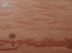 """""""Marruecos II"""", Concha Ibáñez.  Óleo sobre tela. Dimensiones 130 x 97 cm"""