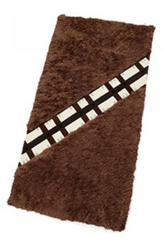 Chewbacca Rugs. NO LONGER A WALKING CARPET. These rugs look just like Chewbacca fur (complete with bandolier). No Wookiees were harmed in the making of these rugs. Cool Gadgets and Gifts from Star War (Cool Bedrooms Galaxy)