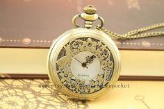 antique+rabbit+pocket+watch+Alice+in+Wonderland+by+evangepocket,+$3.25