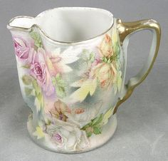 Antique Royal Bayreuth Rose Tapestry Creamer/Pitcher