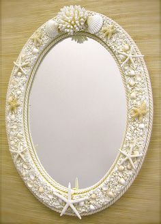 Beach Decor Seashell Mirror