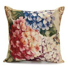 45x45cm Retro Flower Pillow Case Cotton Linen Cushion Cover Home Sofa Decor Cheap - NewChic Mobile.