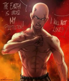 The Earth is under my protection!, I will not lose!, quote, text, Saitama; One Punch Man