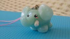Elephant polymer clay charm tutorial