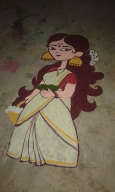 Easy Rangoli Designs Diwali, Rangoli Ideas, Kolam Designs, Simple Rangoli, Indian Rangoli, Flower Rangoli, Indian Art Paintings, Baby Pictures, Pencil Drawings