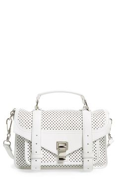 73885e51af6c Proenza Schouler  Tiny PS1  Perforated Leather Satchel Leather Satchel
