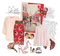 """Romantic Story"" by carola-corana ❤ liked on Polyvore featuring Pashma, SLY 010, Stella Jean, Giambattista Valli, Clarins, Gucci, Sophia Webster, Alexander McQueen, romantic and valentinesday"