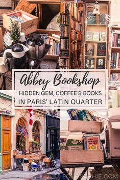 The Abbey Bookshop: History, Coffee & Paris' Other Anglophone Books The Abbey Bookshop, Latin Quarter, Paris, France: The other Anglophone bookstore of the arrondissement in the City of Love. Hidden gem filled with books and coffee! Paris Travel Guide, Travel Guides, Rome Travel, France 3, Paris France, Paris Roma, Paris Latin Quarter, Coffee In Paris, Hotel Des Invalides