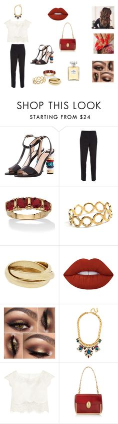 """Red"" by almasa96 ❤ liked on Polyvore featuring Roberto Botticelli, Dolce&Gabbana, Palm Beach Jewelry, Pernille Corydon, Lime Crime, Rime Arodaky, Tory Burch and Chanel"