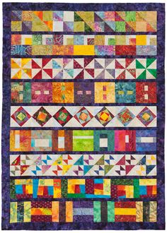Fun row-robin quilt ideas for a monthly patchwork party. Bright Enough for You? quilt by Abbi Barden.