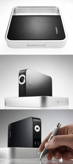 Collapsable digital video projector by Teague for Samsung