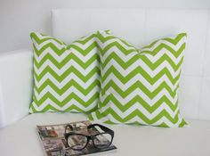 Decorative Pillows Green 14 x 14 Pillows  Accent by skoopehome, $32.00