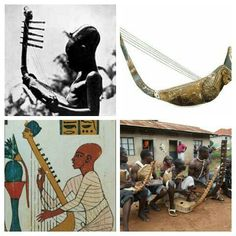 Ancient Egyptian musical instrument similar to domu and Nyatiti found in the African great lakes region.