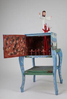 """Ky Folk Art - """"Jesus is Calling"""" - by: Ronald & Jessie Cooper #folk #art"""