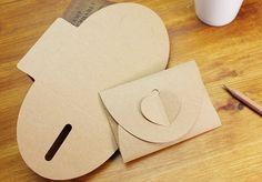 Idée d'enveloppe-cœur... à découper avec la Silhouette...