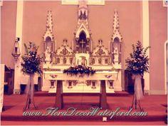 Crooke Church Wedding www.FloraDecorWaterford.com Church Wedding, Alice In Wonderland, Christmas Tree, Holiday Decor, Teal Christmas Tree, Holiday Tree, Xmas Tree, Christmas Trees
