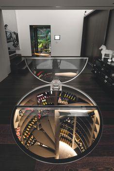 Combined with a single temperature wine cellar with a cheese cellar … – Wine World Cave A Vin Design, Home Interior Design, Interior Architecture, Home Design, Wine Cellar Basement, Home Wine Cellars, Wine Cellar Design, Wine House, Hidden Rooms