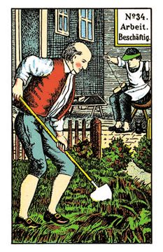 The Occupation (Work) - The Original Kipper Cards by Mrs. Fortune Telling Cards, Oracle Cards, Card Reading, Dame, Meant To Be, Joker, Baseball Cards, The Originals, Fictional Characters