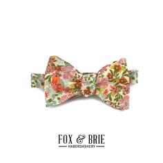 Rust Floral Bow Tie by FoxandBrie on Etsy (One day I'm gonna make my husband wear a bow tie!)
