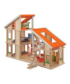Chalet Dollhouse & Toy Furniture Set
