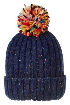 46c589f08086 Louche Brice Flecked Bobble Hat