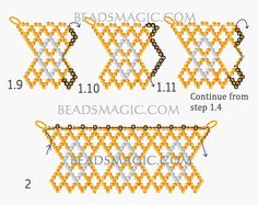 Free pattern for necklace Hot Sand