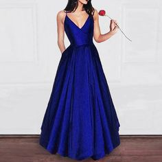 long prom dresses - Amazing Elegant A Line Dark Red Satin Prom dress Girls Graduation Gown 2018 Party Dress Red Satin Prom Dress, Royal Blue Prom Dresses, Emerald Prom Dress, Royal Blue Party Dress, Royal Blue Gown, Lace Dress, Ball Dresses, Girls Dresses, Sexy Dresses