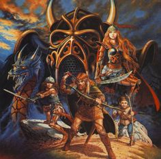 dragonlance art | picture of a few of the Dragonlance characters