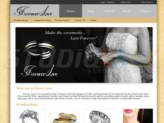 Jewelry Shop Website Visit www.StudioGrfx.com to view my portfolio #webdesign #graphicdesign