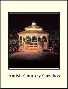 How to build decks with gazebos (Picture of Amish Gazebos from Amish Country Gazebo catalog)